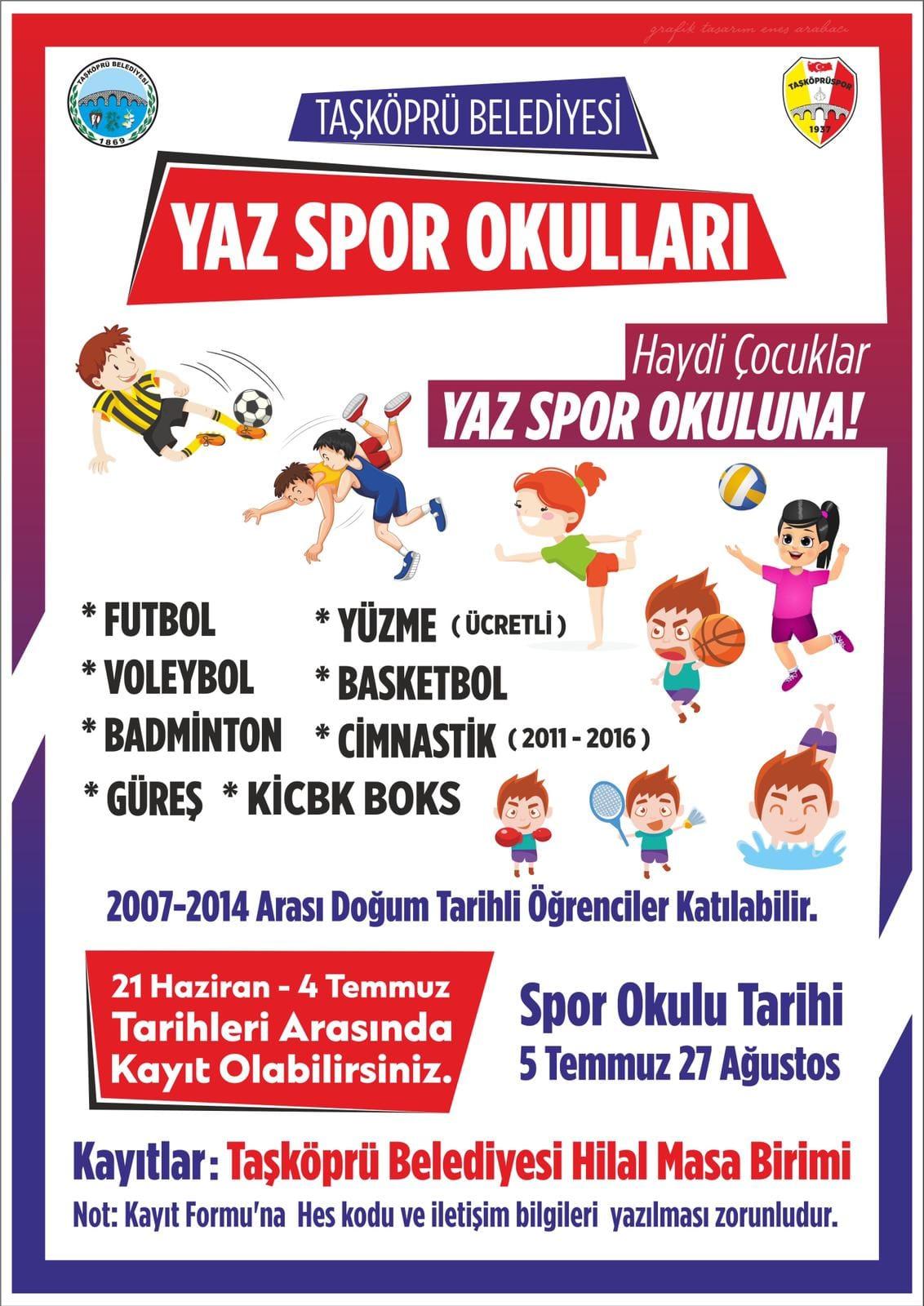 Haydi Çocuklar Yaz Spor Okuluna