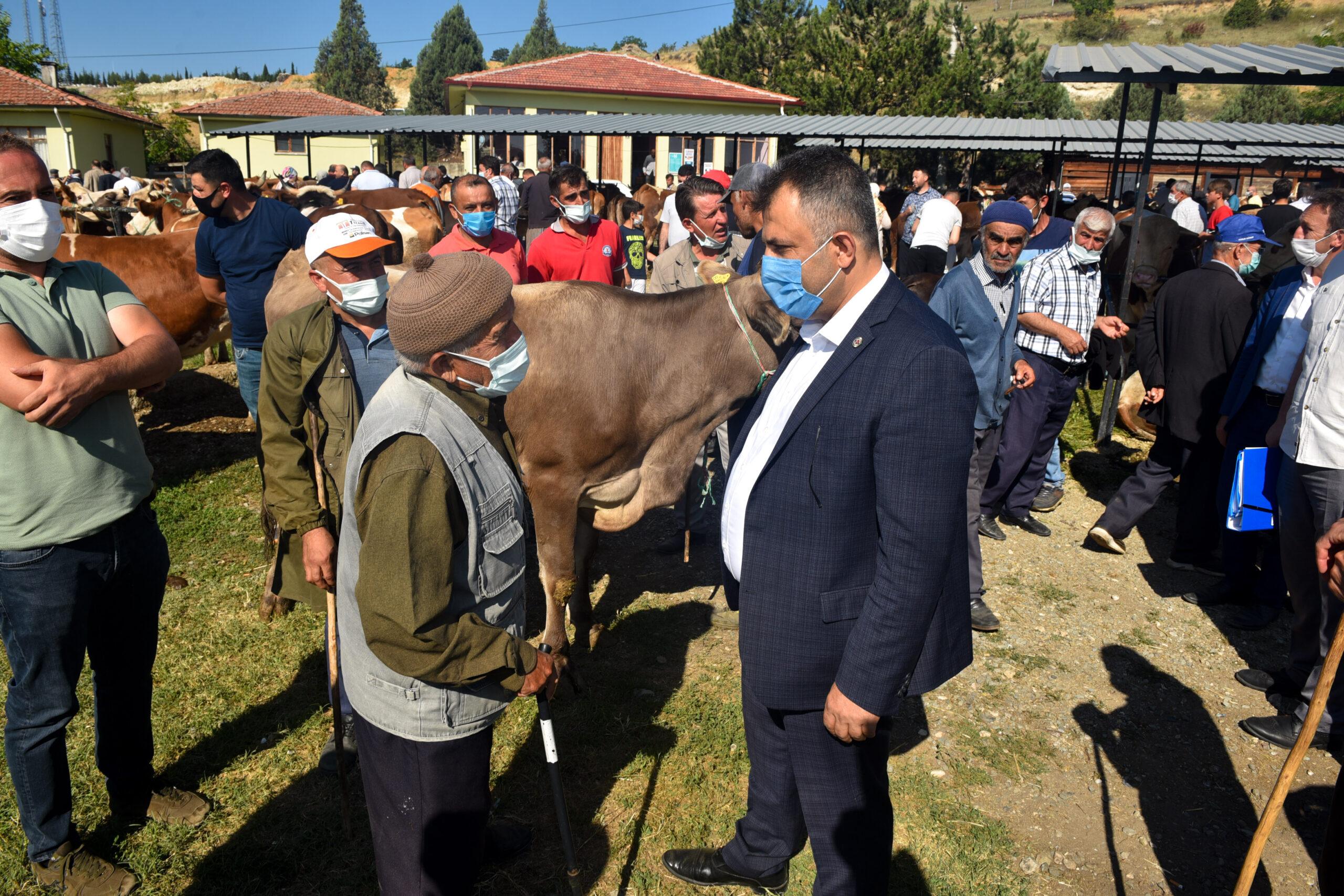 Başkan Çatal, Hayvan Pazarını ziyaret etti
