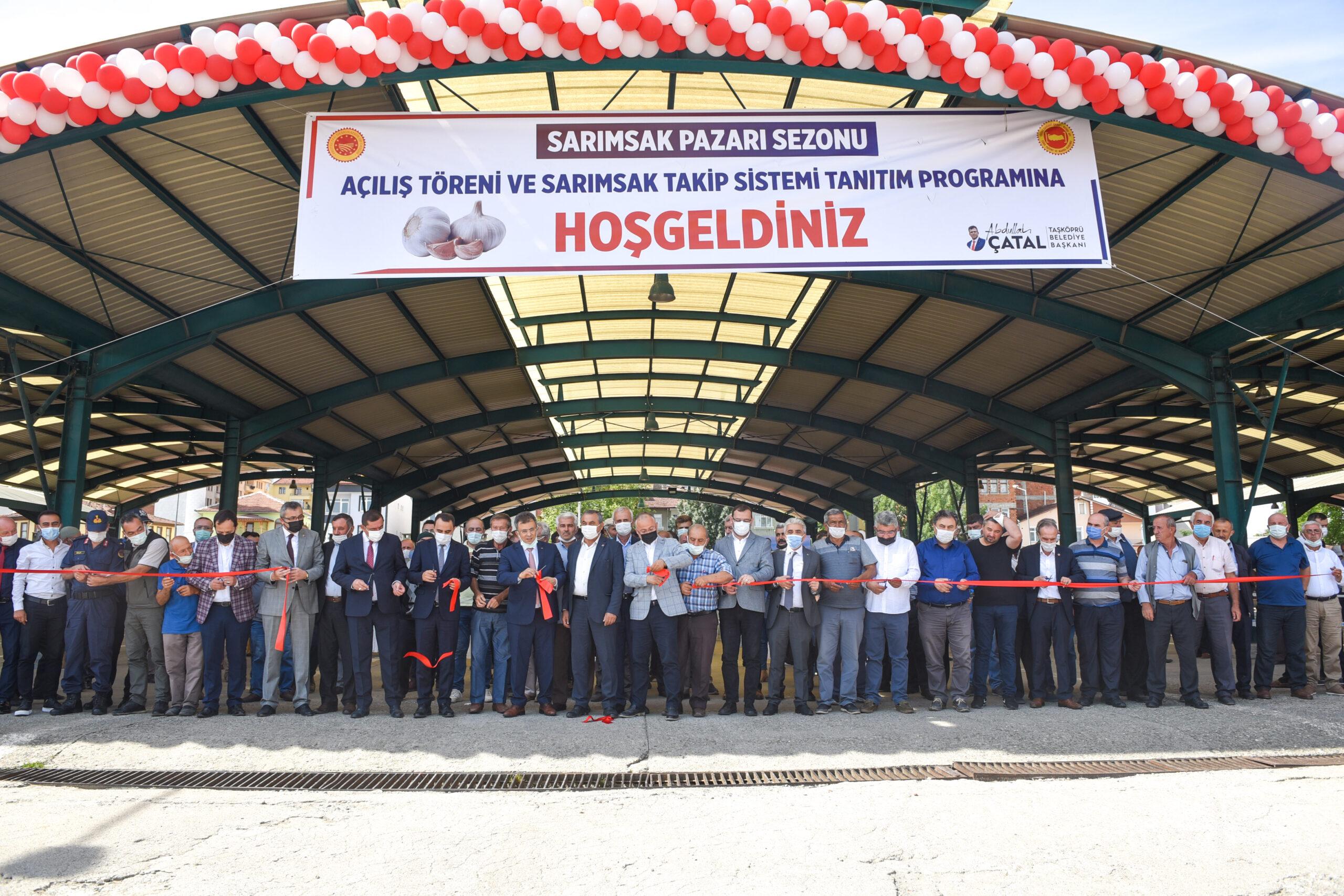 Taşköprü Sarımsak Pazarı 2021 Sezonu açıldı