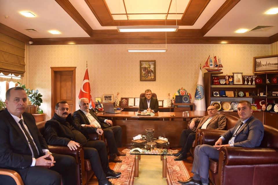 Acar ve Polis Müfettişlerinden Başkan Çatal'a ziyaret